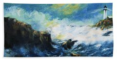 Off Shore Breakers At Dusk Hand Towel