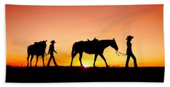 Off To The Barn Hand Towel by Todd Klassy