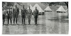 Officers At Camp Newayo, New York State Bath Towel