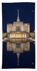 Ogden Temple Reflection Hand Towel by Dustin  LeFevre