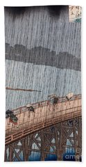 Ohashi Sudden Shower At Atake Hand Towel