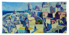Hand Towel featuring the painting OIA by Ana Maria Edulescu