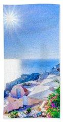 Oia Santorini Grk4178 Bath Towel