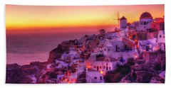 Oia Sunset Bath Towel