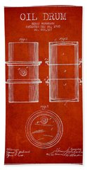 Oil Drum Patent Drawing From 1905 Hand Towel
