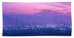 Oil Refinery, Andalucia, Spain Hand Towel