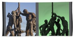Oil Rig Workers Diptych Hand Towel