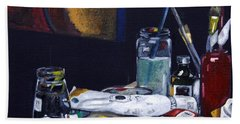 Oils Still Life Bath Towel