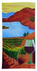 Okanagan Wine Country Hand Towel