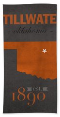 Oklahoma State University Cowboys Stillwater College Town State Map Poster Series No 084 Hand Towel
