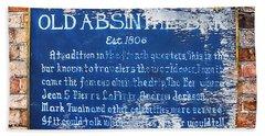 Old Absinthe Bar - Bourbon Street Bath Towel