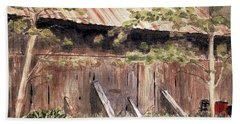 Old Barn Door Bath Towel by Christine Lathrop