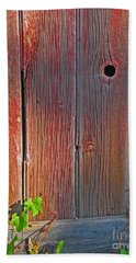 Hand Towel featuring the photograph Old Barn Wood by Ann Horn