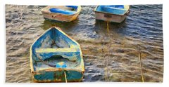 Bath Towel featuring the photograph Old Bermuda Rowboats by Verena Matthew
