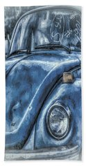 Old Blue Bug Hand Towel