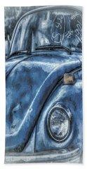 Old Blue Bug Bath Towel by Jean OKeeffe Macro Abundance Art