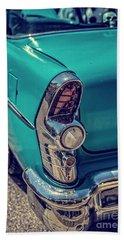 Old Blue Car Bath Towel