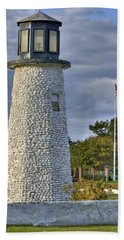 Old Buckroe Lighthouse Hand Towel by Jerry Gammon