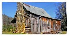 Old Cabin Along Macedonia Church Road Hand Towel