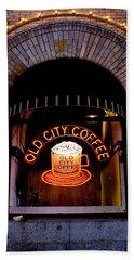 Old City Coffee Bath Towel