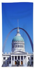 Old Courthouse & St Louis Arch St Louis Hand Towel