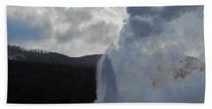 Hand Towel featuring the photograph Old Faithful Morning by Michele Myers