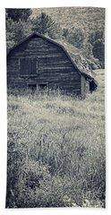 Old Falling Down Barn Blue Hand Towel