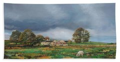 Old Farm, Monyash, Derbyshire, 2009 Oil On Canvas Hand Towel