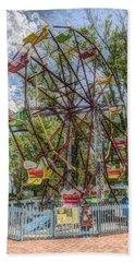 Old Fashioned Ferris Wheel Bath Towel