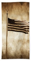 Bath Towel featuring the photograph Old Glory by Aaron Berg