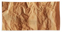 Old Grunge Creased Paper Texture. Retro Vintage Background Bath Towel