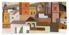 Old Jerusalem Bath Towel by Munir Alawi