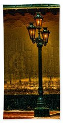 Old Lima Street Lamp Bath Towel