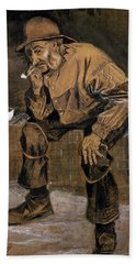 Old Man With A Pipe, 1883 Hand Towel