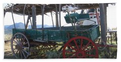 Hand Towel featuring the photograph Old Native American Wagon by Dora Sofia Caputo Photographic Art and Design