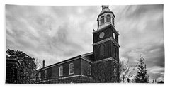 Old Otterbein Church In Black And White Bath Towel