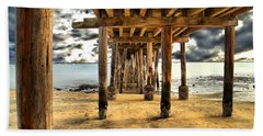 Old Pillar Point Pier Bath Towel