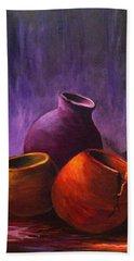 Old Pots 2 Hand Towel by Bozena Zajaczkowska