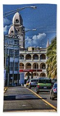 Bath Towel featuring the photograph Old San Juan Cityscape by Daniel Sheldon
