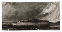 Old Sarum, Engraved By David Lucas 1802-81 C.1829 Mezzotint Hand Towel