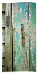 Hand Towel featuring the photograph Old Shed Door by Tom Gowanlock