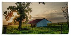 Bath Towel featuring the photograph Old Shed by Savannah Gibbs