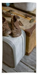 Old Shoes And Packed Bags Hand Towel
