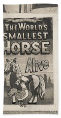 Old Sideshow Poster Bath Towel