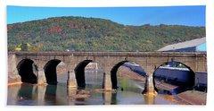 Old Stone Bridge - Johnstown Pa Bath Towel