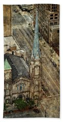Bath Towel featuring the photograph Old Stone Church by Dale Kincaid