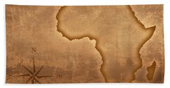 Old Style Africa Map Bath Towel