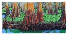 Bath Towel featuring the painting Old Swampy by Deborah Boyd