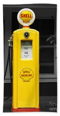 Hand Towel featuring the photograph Old Time Gas Pump by David Lawson
