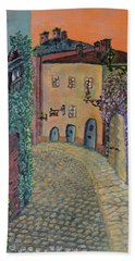 Hand Towel featuring the painting Old Town In Piedmont by Felicia Tica